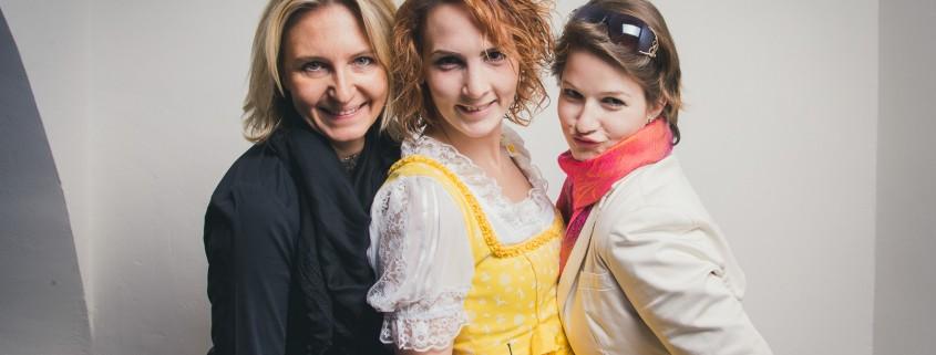 Michaela Maier, Miriam Primik und Melissa Leitinger