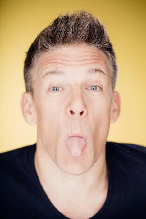 Andi Knoll zeigt seine Zunge