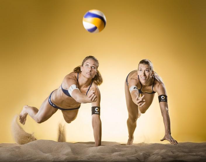 Beachvolleyballteam Schwaiger Hansel - Stefanie Schwaiger und Barbara Hansel - photographed by Miriam Primik