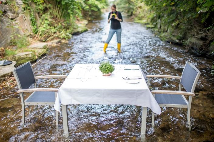 Stainzerhof - Hinter den Kulissen - Dinner im Bachbett