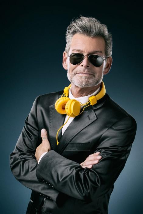 Gebhard Lichtenegger mit Kopfhörern