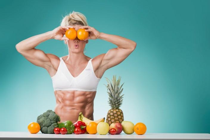 Sixbäckerin Herta - Viel Obst und Gemüse