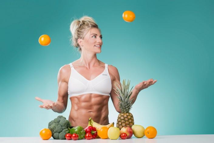 Sixbäckerin Herta jongliert mit den Vitaminen