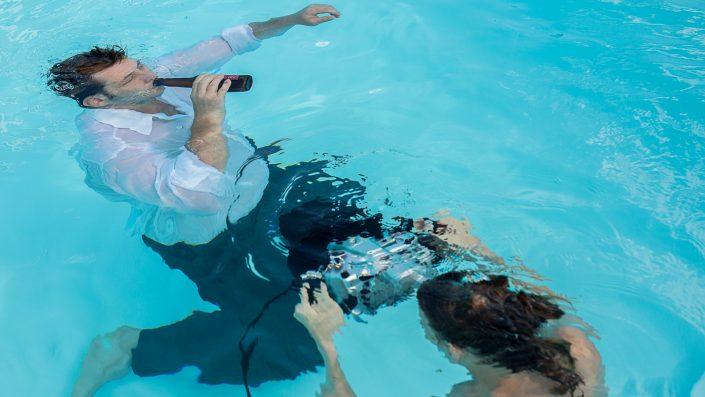 Harry Kofler und Miriam Primik Unterwasser Fotoshooting
